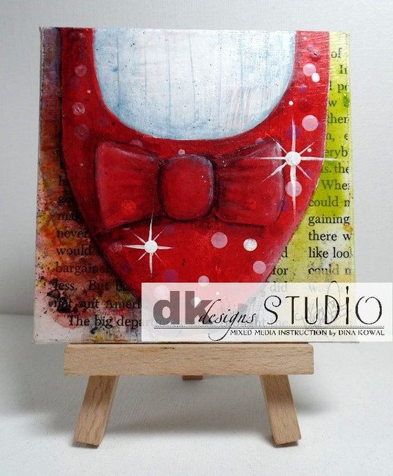 "Dorothy Shoe #2 - original 4"" canvas panel"