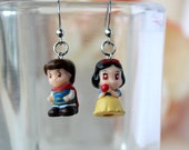 Snow White and Prince Stainless steel earrings