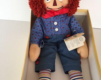 Raggedy Andy  Cloth Doll / Mollye  Reproduction/ Applause Company / By Gatormom13