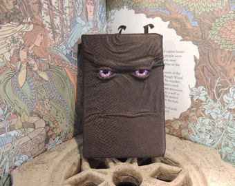 Mythical Beast Book (Brown leather with Purple eyes)