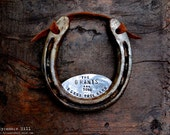 Bless This Barn Horseshoe™ Handmade Original Design by Sycamore Hill. Southern Charm. Rustic Gift. Custom Welcome Sign for Stable or Farm