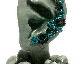 Blue Starling Ear Cuff - no piercing