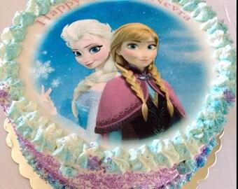 Edible Image Cake Topper, Frozen Edible Image