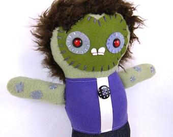 Gothic Plush Art Doll OOAK - Zombie Toy Halloween Doll Spooky Horror Decor Kawaii Monster Weird Toy Creepy Plushie