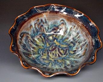 Ceramic Bowl Pottery Salad Bowl Pottery Serving Bowl Ceramic Pasta Bowl Handmade Pottery  Bowl A