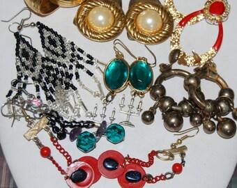 Sale Jewelry Lot Vintage Earrings Set 7 pairs boho gypsy