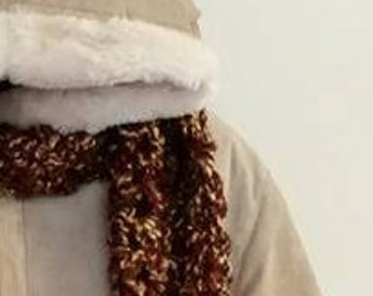 Brown Double Crocheted Scarf