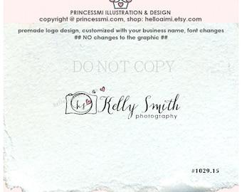 1029-15 Camera logo design / custom initial logo / handwritten font logo / photography logo watermark / swirly logo design  by princessmi