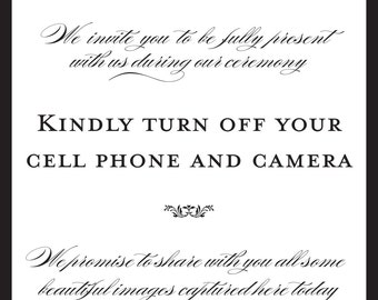 Digital Unplugged Wedding Sign-INSTANT DOWNLOAD