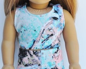 18 inch Doll Clothes - Sports Bra, Multicolor, Activewear, Jog, Workout, Gym, AG Doll