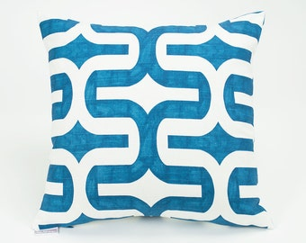 Teal Blue Embrace Aquarius Throw Pillow Cover - 16 inch