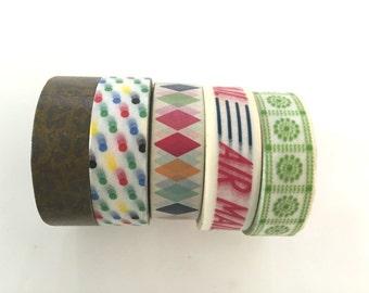 Super Sales (5 rolls) Glitter Washi Masking Tape