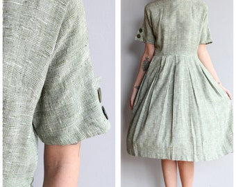 1950s Dress // Poinette Dress // vintage 50s dress
