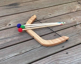 Wooden Bow and Arrows Natural Toy Play Set