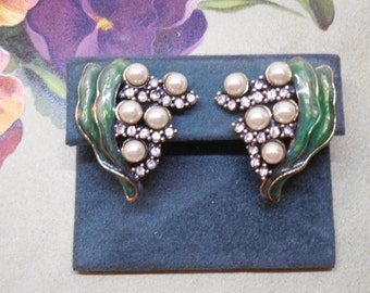 Heidi Daus Lily of the Valley Clip On Earrings