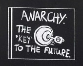 Art Punk Patches Punk Patch Print Key Anarchy Anarchist Anarchism Anarcho Punk Anarcha Feminist DIY Cloth Small Lock Door Crust Politics