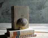 Pair of Vintage Brass Shell Bookends
