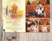 Fall Mini Session Template, Photography Marketing Board, Fall Minis PSD Template - Instant Download