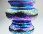 Iridescent Hand Blown Glass Vase by Eric W. Hansen
