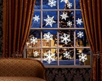 Wall Decals - Christmas Decorations - Christmas Stickers - Snowflakes - Snowflake Stickers - Snowflake Wall Decals - Winter Wedding - Frozen