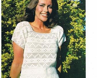 1960's Crocheted Summer Blouse by Sirdar