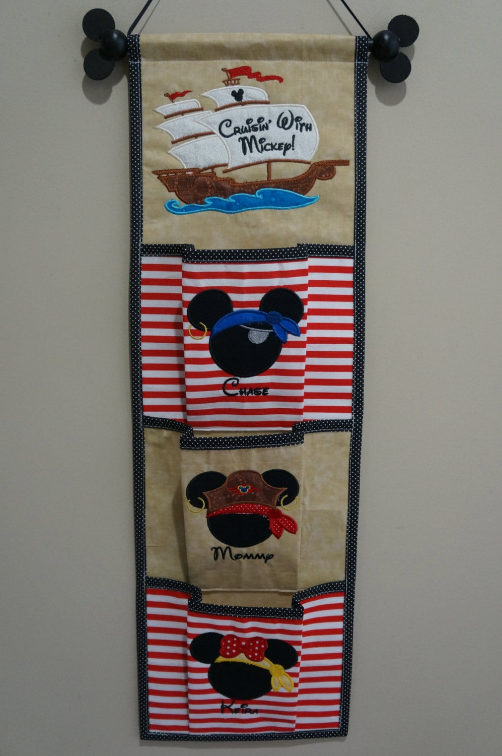 One two three four or five pocket pirate theme fish for Disney cruise fish extender