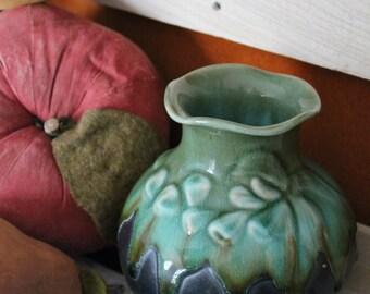 Shades of Green Short Vase