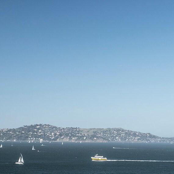 Sailing Photo, San Francisco Print, Coastal, Ocean, Home Decor, Wall Art, Blues, Cottage, Fine Art Print, Children's Room Art
