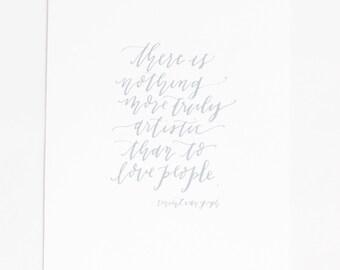 8x10 Calligraphy Print