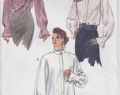 Blouse Pattern Shirt Flounces Long Sleeve Cuffs Loose Fitting  Misses 12 - 16 Uncut Vogue 8786
