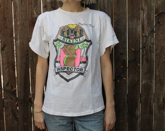 Vintage Novelty Bikini Inspector T-shirt