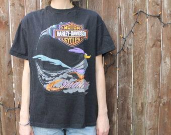 Vintage Harley Davidson Looney Tunes T-shirt