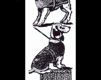 Animal Puppy Dog DOGS PETS Perro Cane Uncinetto Knitting Knit Sweater Coat Jacket Pattern Design #7156 Knitted Reproduction / Copy Sz 10-18