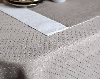 Duplex Linen Placemats Luxury Placemats Set of 6 Natural Linen Placemats Gray Undyed And White / In And Jan