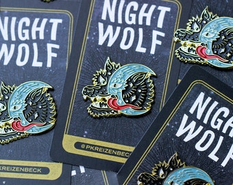 "Night Wolf 1.25"" Enamel Pin"