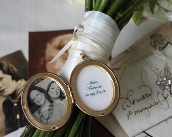 Wedding Bouquet Locket, Remembrance Locket, Personalised Locket
