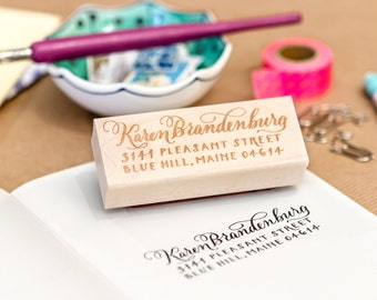 Calligraphy Address Stamp – Custom Made