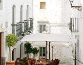 Portugal Print - European Cafe Wall Art - Portuguese Home Decor  White Art Travel Photography Portugal Architecture Print Rustic Art