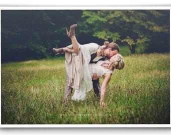 Boho Chic Wedding Dress, Flowy Wedding Dress, Champagne Wedding Dress, Keyhole Back Wedding Dress
