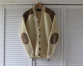 Pure Wool Cardigan with Patches