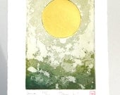 Luna Moon Sun Sol - Original Etching