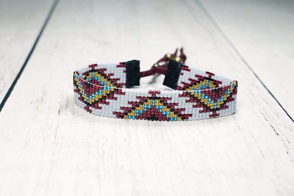 tribal seed bead bracelet bead loom bracelet by