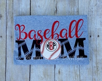 Baseball Mom Shirt - Baseball Mom - Baseball Mom Tshirt - Sports Shirts - Personalized Baseball Shirt - Gift for her - Baseball Shirt - Gift