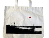 San Francisco Lover's Wideshot Golden Gate Bridge Heavyweight Tote Bag