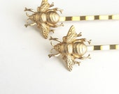 Gold Bee Hair Pins