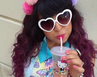 Rainbow Pom Pom Headband