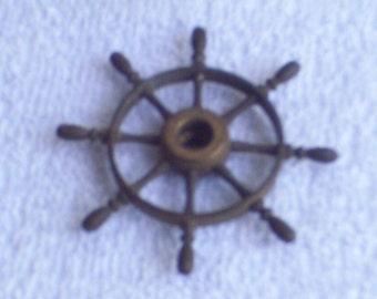 Vintage Miniature  Ship Wheel