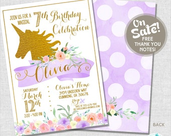 Unicorn Party Invitation | Unicorn Birthday Invitation | Unicorn Party Printable | Rainbow Party | 1st Birthday | Amanda's Parties To Go