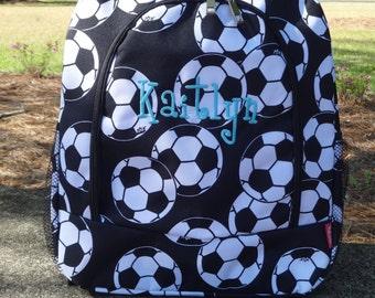 Personalized Soccer Backpack   Soccer Book bag Sports Backpack