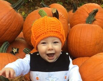 Pumpkin Hat - Baby Hat - Pumpkin Costume Hat - Halloween Costume Pumpkin Hat - Toddler Pumpkin Hat Hat - by JoJosBootique